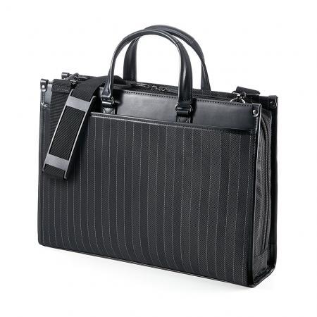 ストライプビジネスバッグ(2WAY仕様・手提げ・ショルダー・通勤対応)