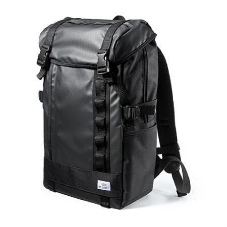 スクエアリュック・バックパック(メンズ・通学/通勤対応・iPad/PC収納・ブラック)