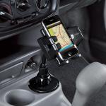 ドリンクホルダー固定型iPhoneX iPhone8/8 Plus対応 車載ホルダー(iPod対応)