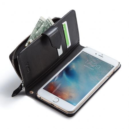 iPhone 6s Plus/6 Plus手帳型ケース 本革 コインケース カード収納付き