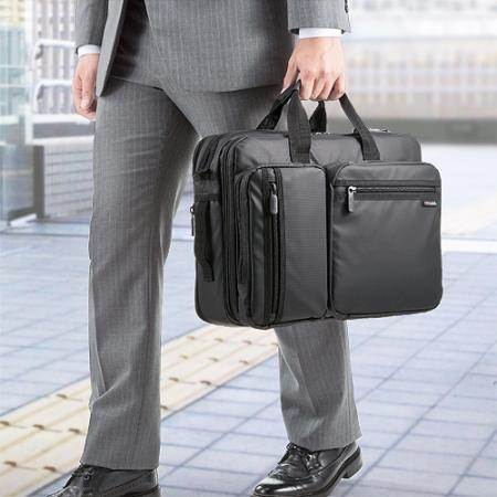 3WAYビジネスバッグ(通勤&出張対応・耐水素材・15.6型対応)