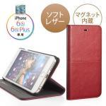 iPhone6s Plus /6 Plus手帳型ケース(ソフトレザー・スタンド機能・レッド)