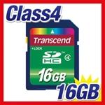 SDHCカード 16GB Class4 Transcend製